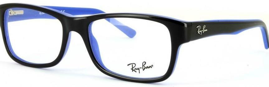 Lunettes-de-vue-Ray-Ban-RX5268-bleu-noir-864x282